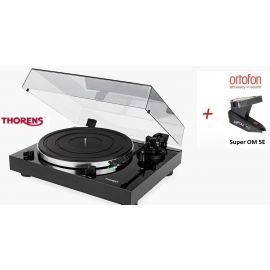 Thorens TD 202 (Ortofon Super OM 5E) - Čierna piano