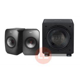 KEF LSX + REL HT/1003 + AudioQuest Black lab 3 m - černá