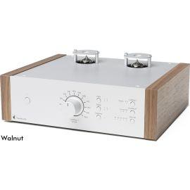 Pro-Ject Tube Box DS2 - Stříbrná / Ořech
