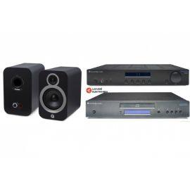 Q Acoustics 3030i + Cambridge Audio Topaz AM10 + Cambridge Audio Topaz CD10 - Černá